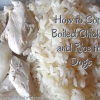 How to Cook Chicken and Rice for Dogs